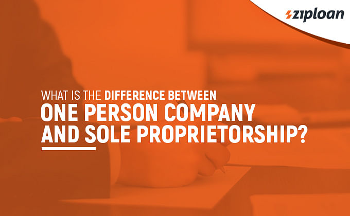 difference between one person company and sole proprietorship