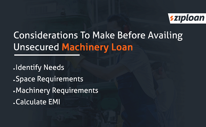 Unsecured machinery loan