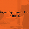 equipment finance